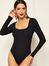 Square Neck Form Fitting Bodysuit