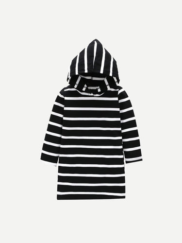 Toddler Girls Striped Hooded Dress