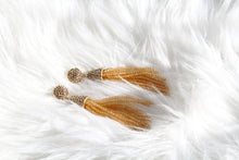 Beaded Tassel Earrings - Gold