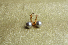 Silver Pearl 10mm Fish Hook Earring