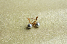 Silver Pearl Fish Hook Earring 8mm