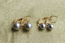 Silver Pearl Solitaire Fish Hook Earring