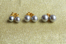 Classic Silver Pearl Stud Earrings