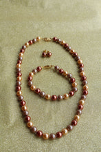 Tri-tone Single Strand Pearl Set
