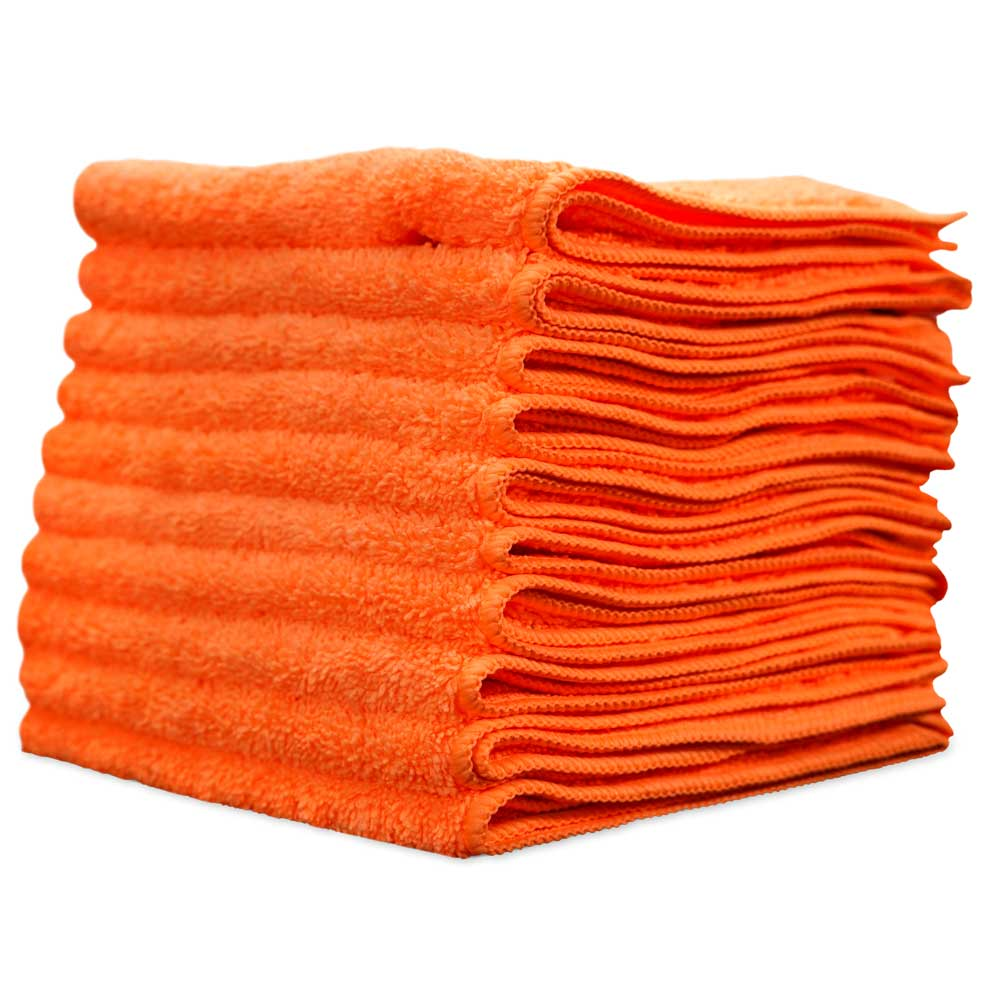 10 Pack of 16''x16'' TopCoat® Ultra-Micro™ 16 Professional Detail Microfiber Towels