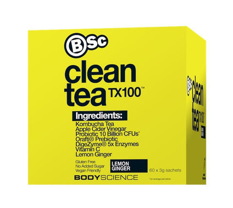 Clean Tea TX100 - fit for life 24/7 60 serve / Lemon Ginger FAT BURNERS Fit for life 24/7 Fit for life nutrition