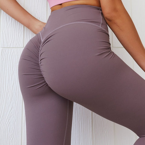 peach hip fitness yoga scrunch butt sports leggings - fit for life 24/7 Purple / XL MERCHANDISE Fit for life 24/7 Fit for life nutrition