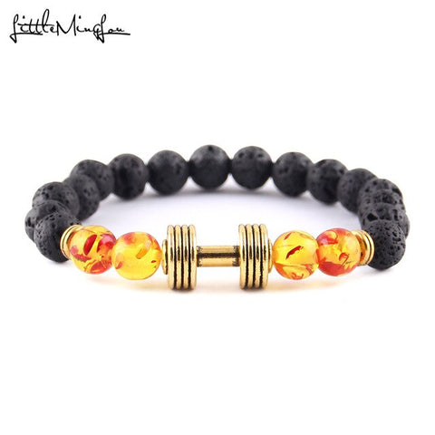 Nature Stone Yoga Energy Beaded Barbell Bracelet - fit for life 24/7 4065a bracelet Fit for life 24/7 Fit for life nutrition