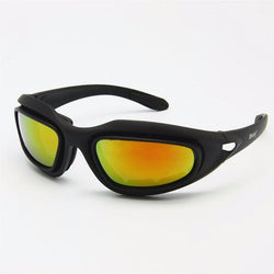 4 Lens Kit Polarized Foam Padded Military Goggles Sunglasses