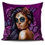 Calavera Skull Girl Pillow Covers
