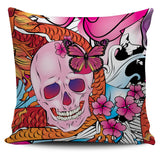 Skulls & Dragon Pillow Covers