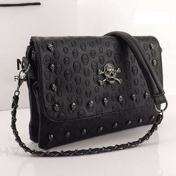 Skull Rivets Envelope Sling Bag
