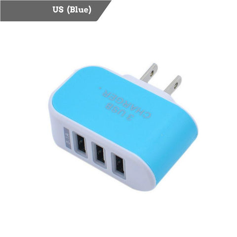 3-Port USB Universal Travel Charger