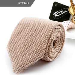 Thin Knitted Polyester Tie
