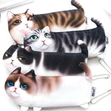 3D Cartoon Cat Pencil Case