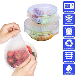 Super Seal Silicone Food Wrap (4 pcs) Set