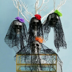 Skull Bride & Pirate Hanging Decor