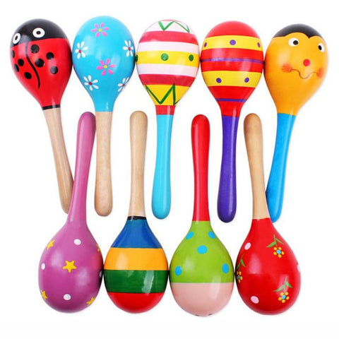 Musical Wood Rattles Toy (5pcs) Set For Babies