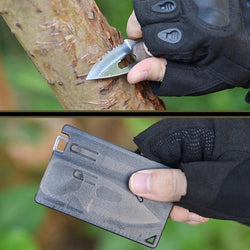 EDC Card Camping Knife & Fork
