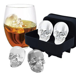 4 Grid Skull Ice Chocolate Mold