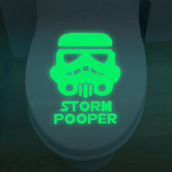 Storm Pooper Toilet Sticker