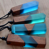 Healing Crystal & Wood Pendant Necklace