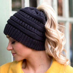 High Ponytail Knit Beanie