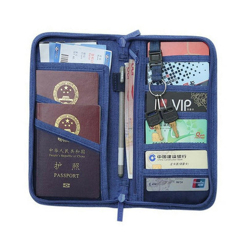 Deluxe Hard Cover Travel Wallet Clutch