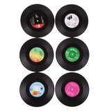 Vintage Vinyl Record Beverage Coaster (6pcs) Set
