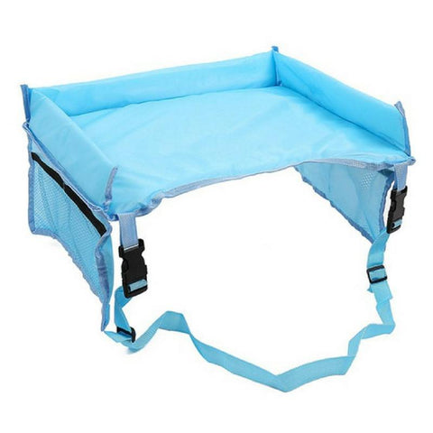 Kids Car Seat Table Blue
