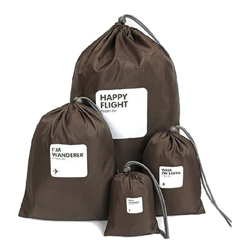 Drawstring Travel Packing Bag (4pcs) Set