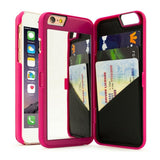 Creative iPhone Case with Hidden Mirror & Card Slot
