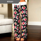 Drawstring Comfy Floral Pants for women