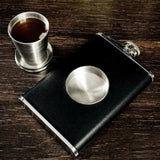 2-in-1 Whiskey Flask with Collapsible Shot Glass