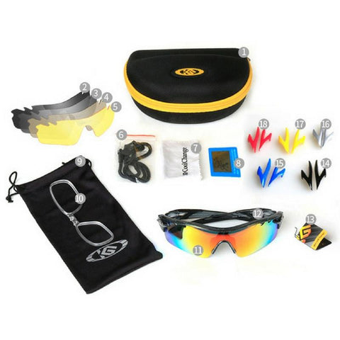 2d99b3354f9 ... Polarized Outdoor Sunglasses with Interchangeable Lens   Frame Colors  Set