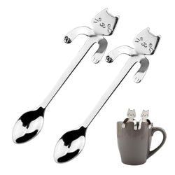Cat Lovers Mini Coffee & Tea Spoon Set of 2