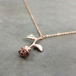 Lovely Rose Pendant Necklace
