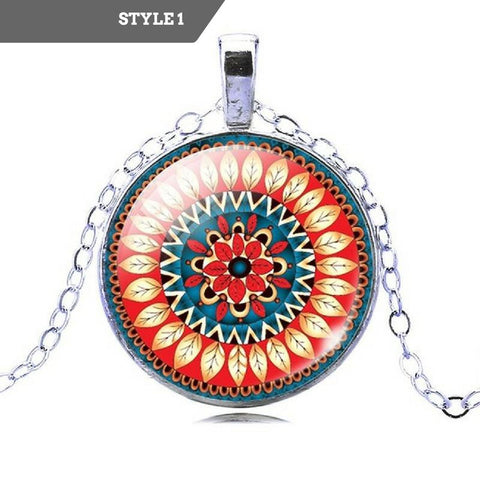 Mandala Glass Necklace