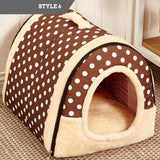 Foldable Pet Bed & House
