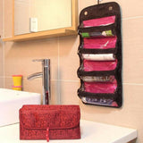 Roll-up Multi-section Cosmetic Bag