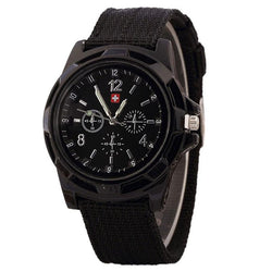Military Style Canvas Quartz Watch