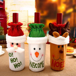 Santa, Reindeer & Snowman Wine Bottle Bag