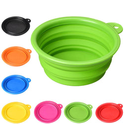 Collapsible Silicone Color Pet Bowl