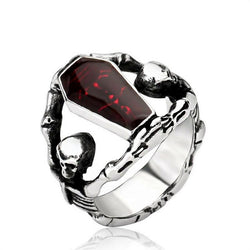 Skull Guardians Crimson Coffin Ring