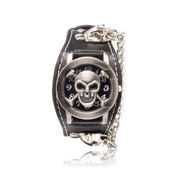 Skull & Crossbones Cuff Watch