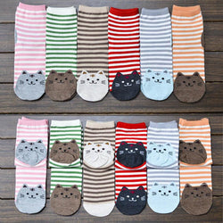 Japanese Cats Cotton Socks