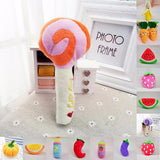 Fruits Vegetables Candy Milk Bottle Pet Squeaky Toy