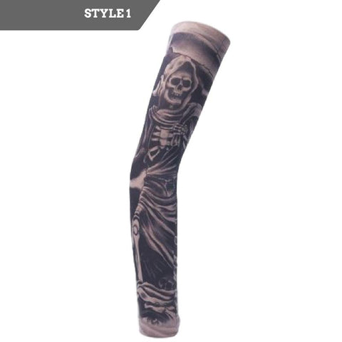 Skull Tattoo Slip-on Arm Sleeves