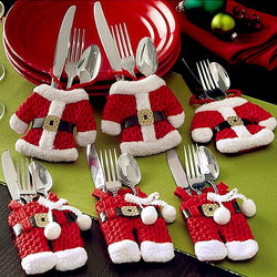 Santa Silverware Holders (6pcs) Set