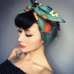 Vintage Print Wired Headband